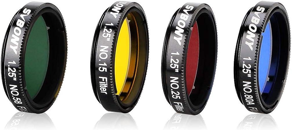 """5 conjunto de filtros de color filtros oculares 1.25 /""""telescopio Filtro Filtro CPL de la Luna"""