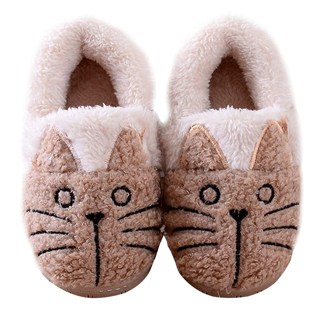 Women/Kids Family Cute Cat Warm House Slippers Booties XZ-ZQCB3056