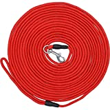 Taglory Dog Training Leash/Rope Dog Check Cord/Lightweight Small Medium Dog Tracking Leads/50ft/Red