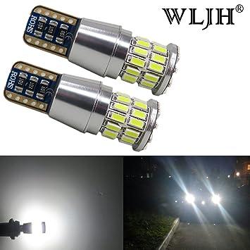 WLJH 2 unidades muy brillante 5W 3014 chipsets LED bombillas T10 W5W Canbus Libre De Errores Bombilla para aparcamiento Back Up sidemarker Luz de Matrícula ...