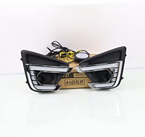 July King LED Daytime Running Lights for Mazda CX-5 2013-2016, LED DRL With Yellow Turn Signals
