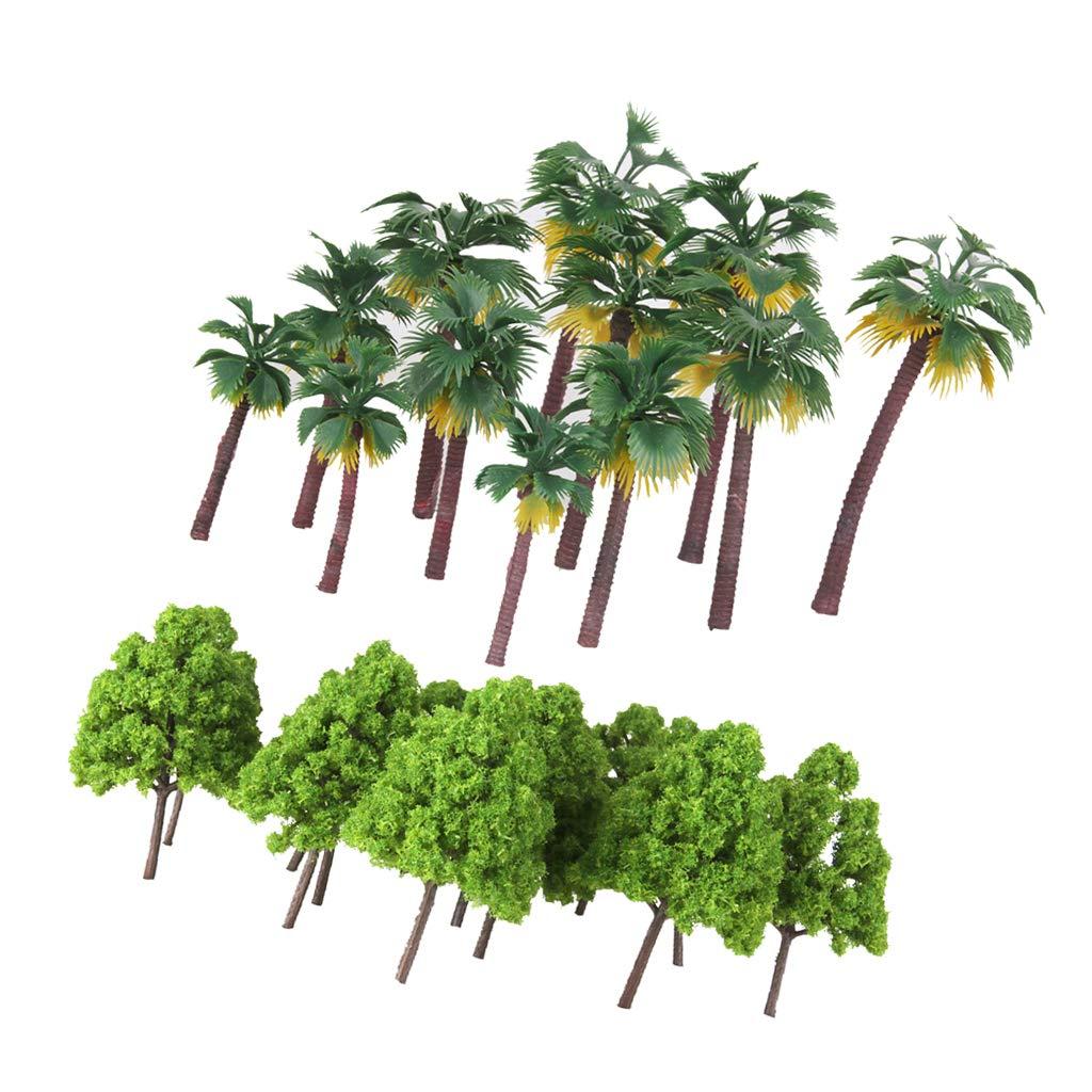 B Baosity Plástico Modelo Árboles Ciprés Palma para Escenario de ...