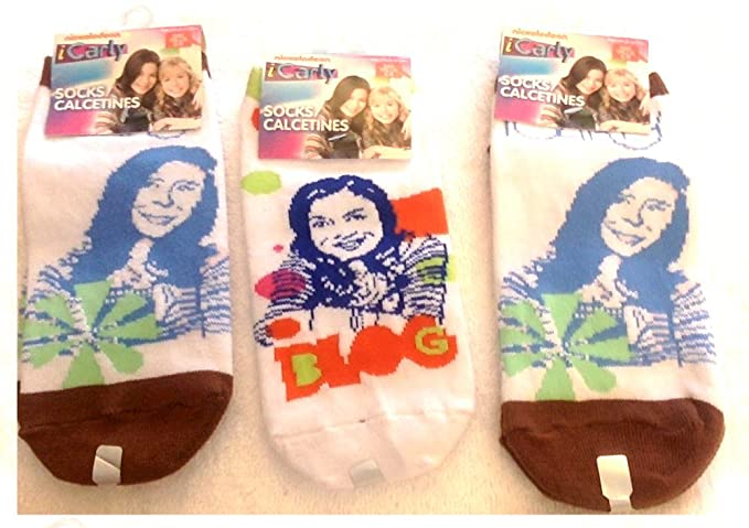 3 Pairs iCarly Girls Socks. Shoe Size 5-8.