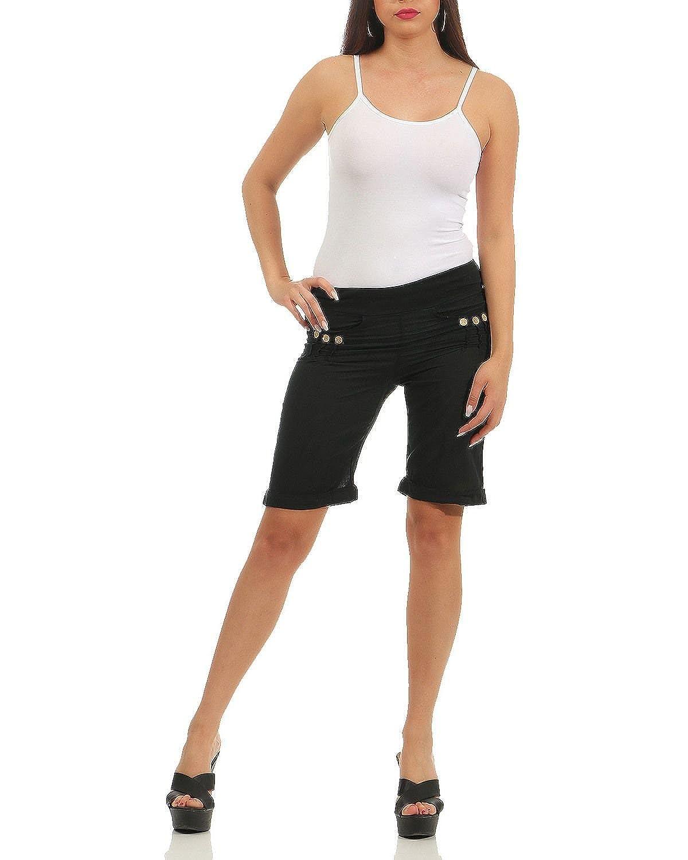 ZARMEXX Pantaloncini da Spiaggia e Pantaloncini Estivi da Donna Pantaloni da Bermuda con Bretelle al Ginocchio