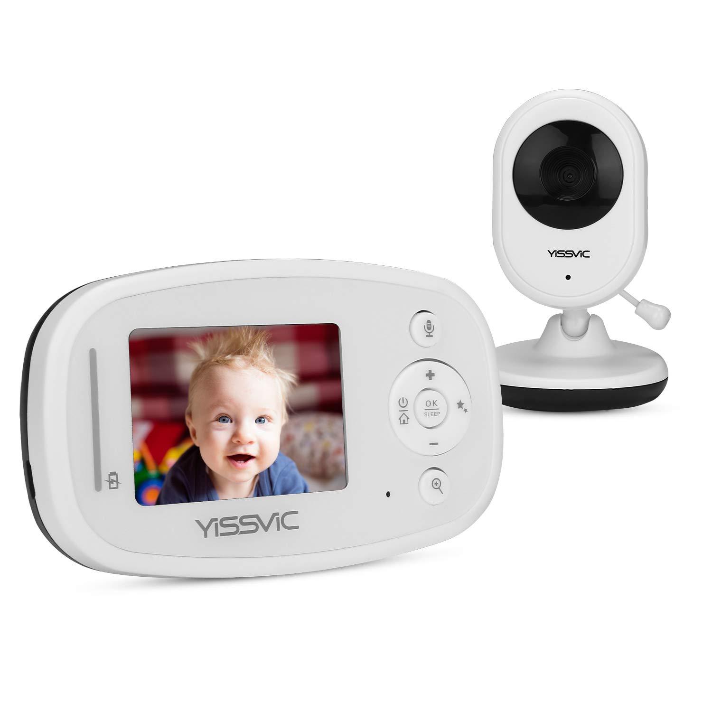 Yissvic Baby Monitor 2,4 Pollici LCD Babyphone Audio e Video Wireless con Visione Notturna Bambini per Videosorveglianza