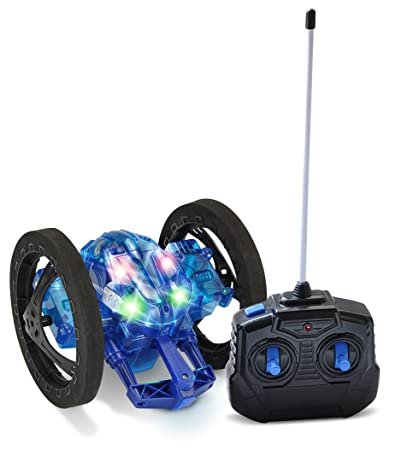 Mindscope Turbo Twister Catapult Jumping Remote Control RC Light Up LED Stunt Action Vehicle BLUE (