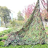 UNIQUEBELLA Camouflage Net for Hunting Fishing Shooting Paintballing Camo Netting Woodland Color 6.5ft*13ft(2m*4m)
