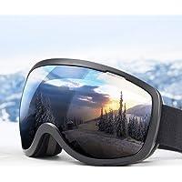 Elegear Skidglasögon kvinnor män skidglasögon snowboardglasögon anti-dimma 100 % UV400 skydd speglade snöglasögon…