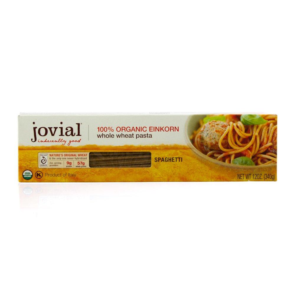 Jovial Organic Whole Grain Einkorn Spaghetti Pasta, 12 Ounce - 12 per case.