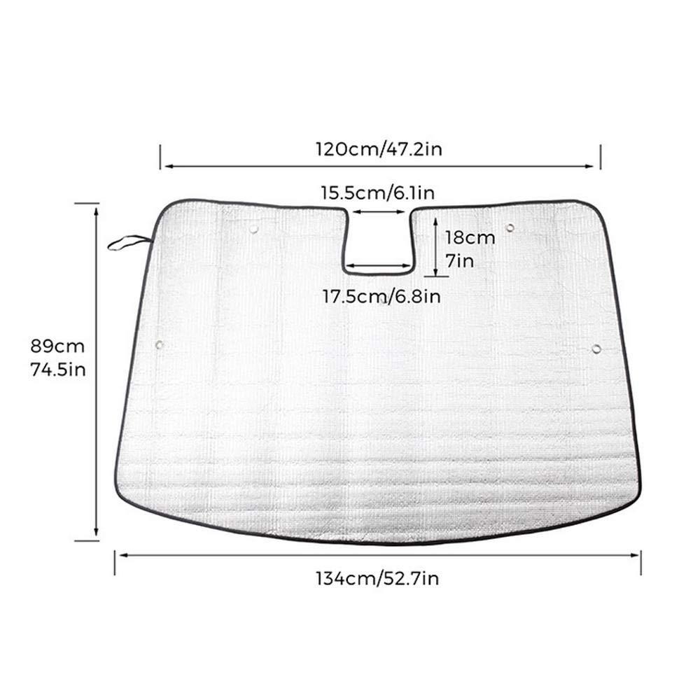Blocks Raggi UV Protezione per Parasole Protegge Il Tuo Veicolo Scudo Termico Fresco Hamkaw Parabrezza per Auto Parasole per Tesla Model 3
