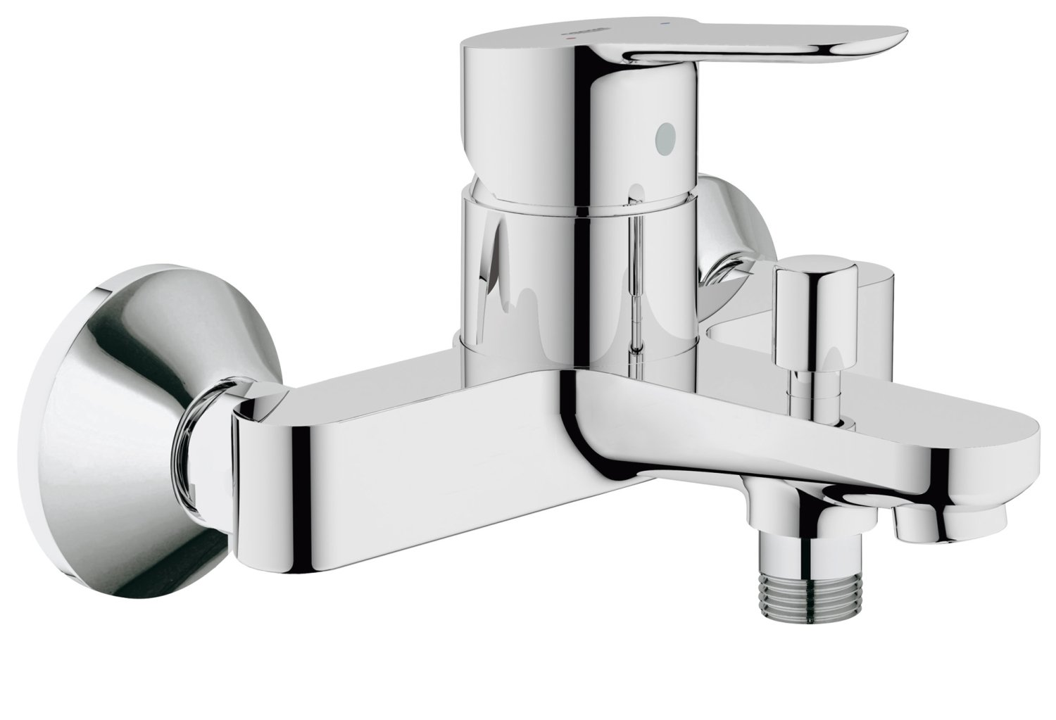 GROHE Single lever bath mixer BauEdge 23334 integrated reflow-stop ...