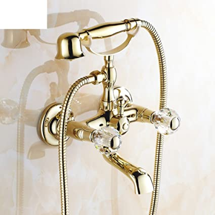 Delicieux Copper Antique Bathtub Faucet/European Style Shower Kit/Simple Shower Set  Bathroom E     Amazon.com