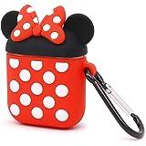 YONOCOSTA Cute Airpods Case, Airpods 2 Case, Cool Funny Animals Minnie Mouse en Forma de protección Completa a Prueba de Golp