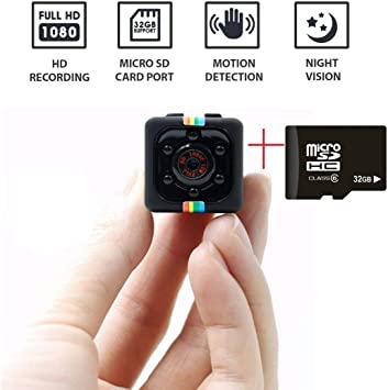 Sports Action Cam with Motion Detection for Home Office and Outdoor Use Car Hidden Spy Camera 1080P Mini Security Wireless cam with Night Vision Drone Video Recorder for Nanny//Housekeeper