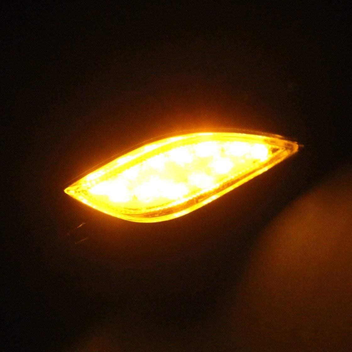 2pcs lot 12V moto clignotant universel 4 couleurs 12 LED SMD clignotant clignotant lampe de v/élo livraison gratuite