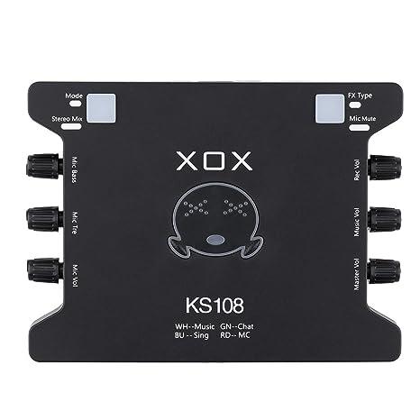 ammoon XOX KS108 USB Interfaz de Audio Red en Línea ...