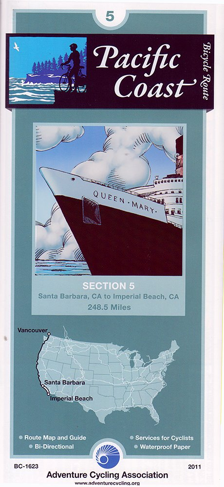 Download Bicycle Touring Map: Pacific Coast Section 5 pdf