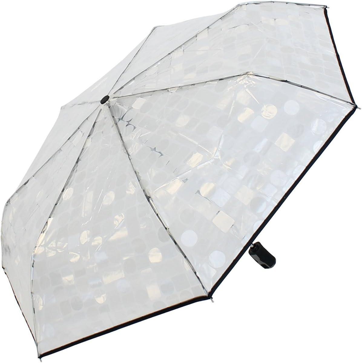 Blau 1PC Transparenter Taschenschirm Modischer Regenschirm Princess C-herry B-lossom Four Colors Akozon Regenschirm
