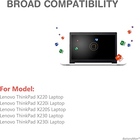 Amazon Com New 44 Laptop Battery 0a36306 For Lenovo Thinkpad X220 X220i X220s X230 X230i Notebook 45n1019 45n1022 45n1023 45n1025 Electronics