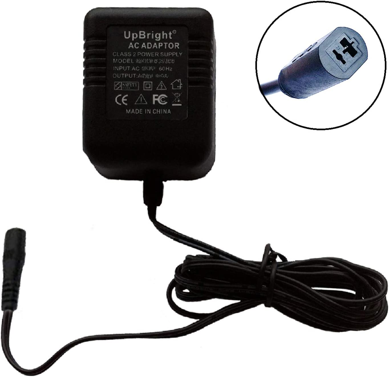 UpBright 24V AC Adapter Replacement for TDC Power DA-20-24 DA2024 TDCpower 24VAC 0.83A 20VA Class 2 Transformer Power Supply Cord Charger PSU (w/ 2-Prong Connector fits IKEA & Other Lights Light Lamp)