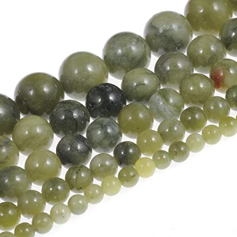 Natural Stone Beads 2mm Yellow Jade Stone Gemstone Round Loose Beads Crystal Energy Stone Healing Power for Jewelry Making DIY,1 Strand 15