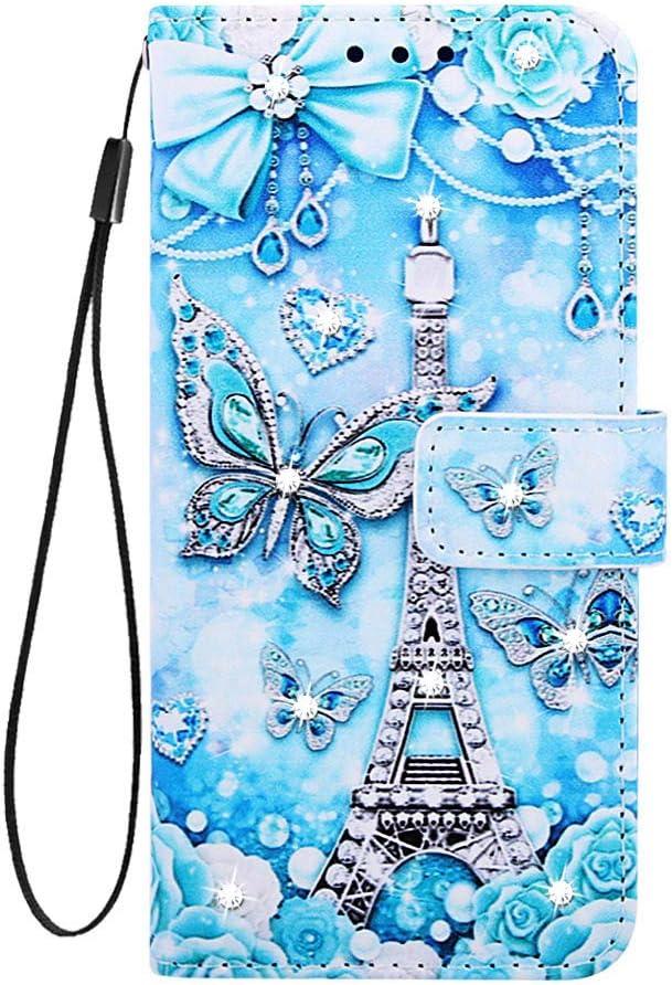HUDDU Lederh/ülle Kompatibel mit Huawei Mate 20 Lite H/ülle Diamant Leder Wallet Ledertasche Handyh/ülle Glitzer Brieftasche Tasche M/ädchen Magnetverschlu/ß St/änder Etui Case Mandala