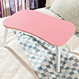 Jerry & Maggie - 4-legs Laptop Desk Foldable Lapdesk Play Game Table Board - Otaku Lazy Play Style Lightweight Portable Personal Party Wood Laptop on Bed Sofa Pink