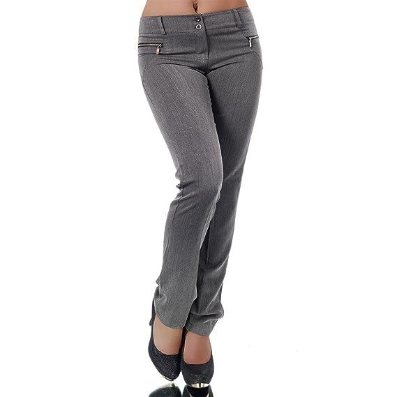 Diva Jeans H596 Damen Business Hosen Stoffhose Bootcut Elegante Hose Classic Gerades Bein