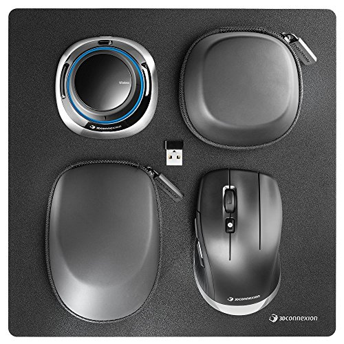3Dconnexion 3DX-700067 Spacemouse Wireless Kit - 3D Mouse - 2.4 Ghz (3Dx-700067), Black ()
