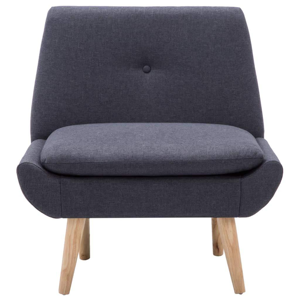 Polstersessel Stuhl-Set mit Hocker und 2 Kissen Stoffbezug Dunkelgrau Festnight Slipper-Stuhl mit Fu/ßhocker Relaxsessel Lesestuhl