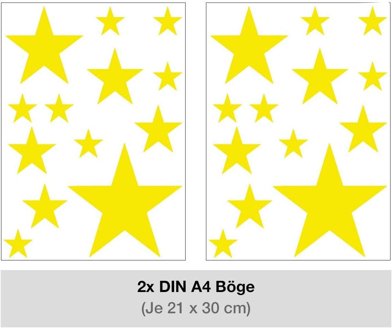 Pink STERNEN SET Kinderzimmer Wandsticker 26 St/ück Sterne Sternenhimmel zum Kleben Wandtattoo Wandaufkleber Sticker Wanddeko