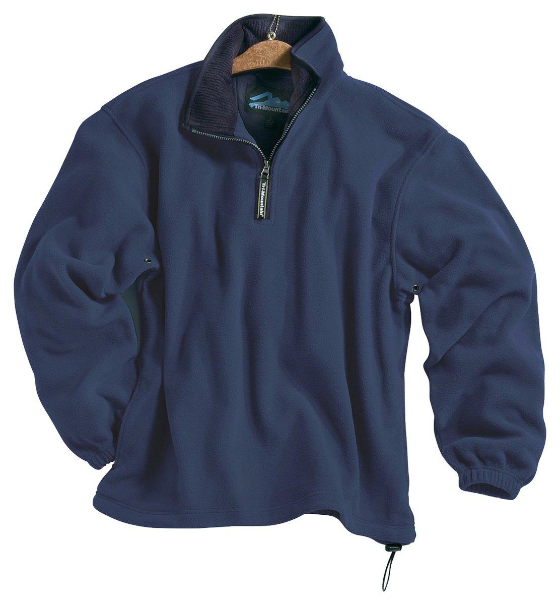 Tri-mountain Micro fleece 1/4 zip pullover. 7100TM - NAVY / NAVY_L