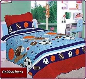 Golden Bettwäsche 2 Stück Bedruckt Tagesdecke American Football