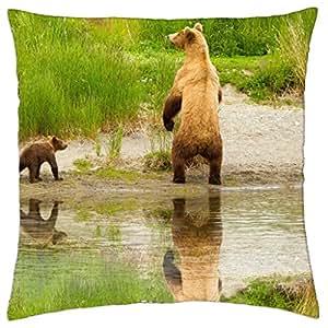 Cute bear family - Throw Pillow Cover Case (18