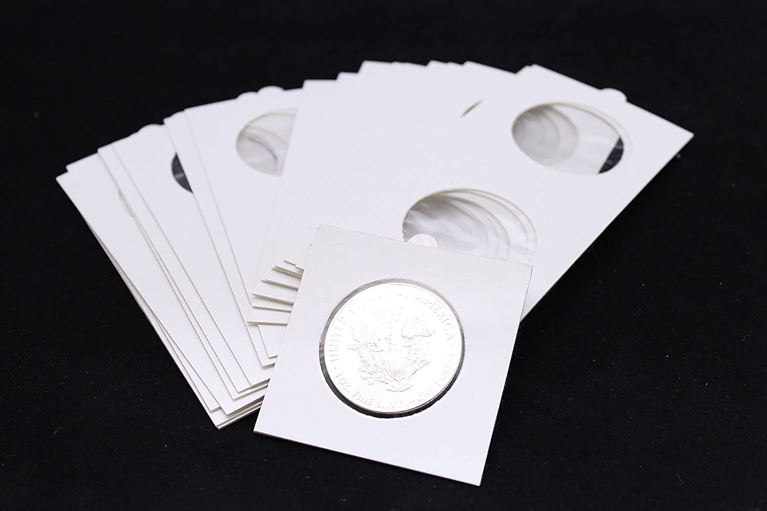 100 BCW 2 x 2 Cardboard Coin Flips Large Silver Dollar 2x2 paper holders