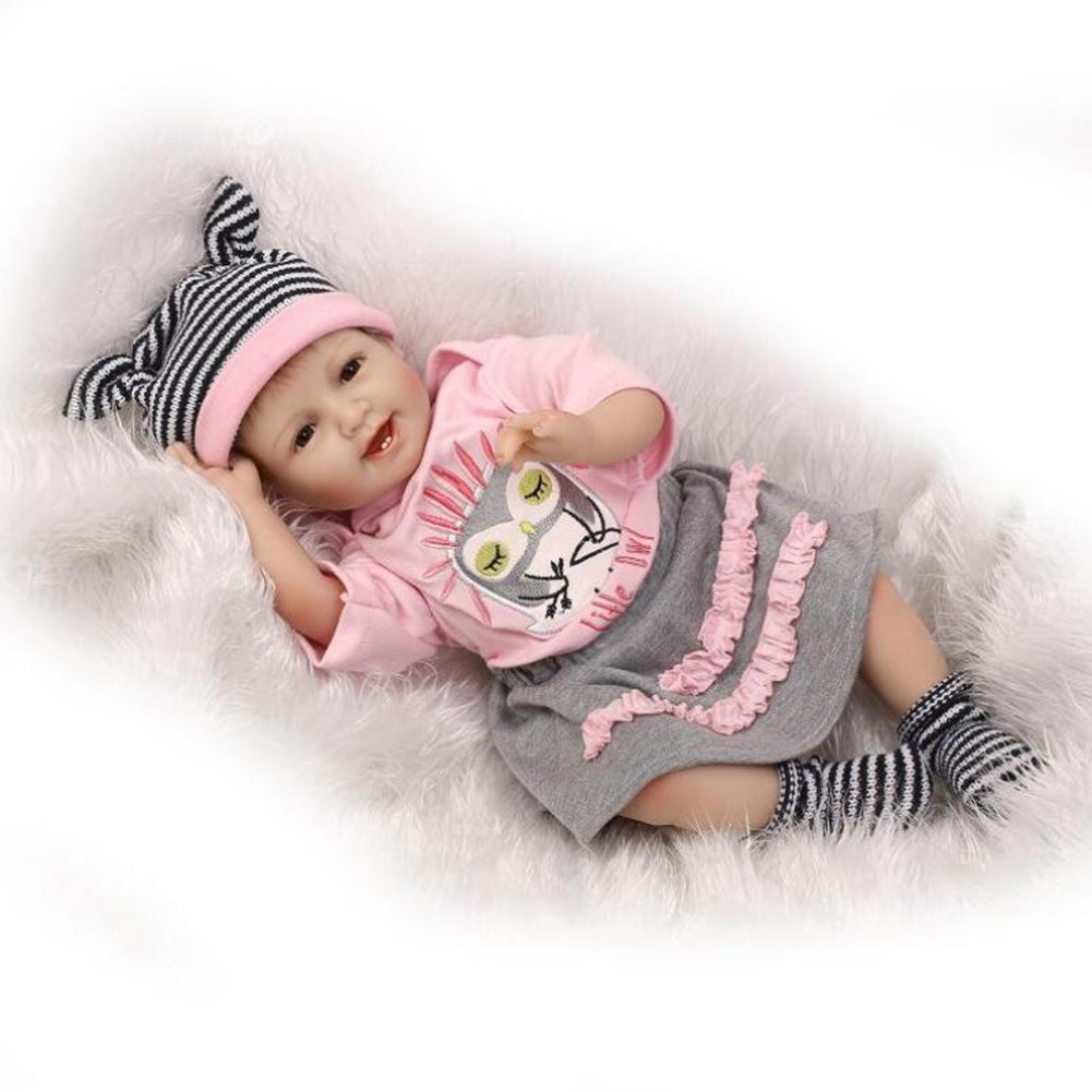 HGCY Realista Reborn Bebé Silicona Suave Cuerpo Sonrisa De ...