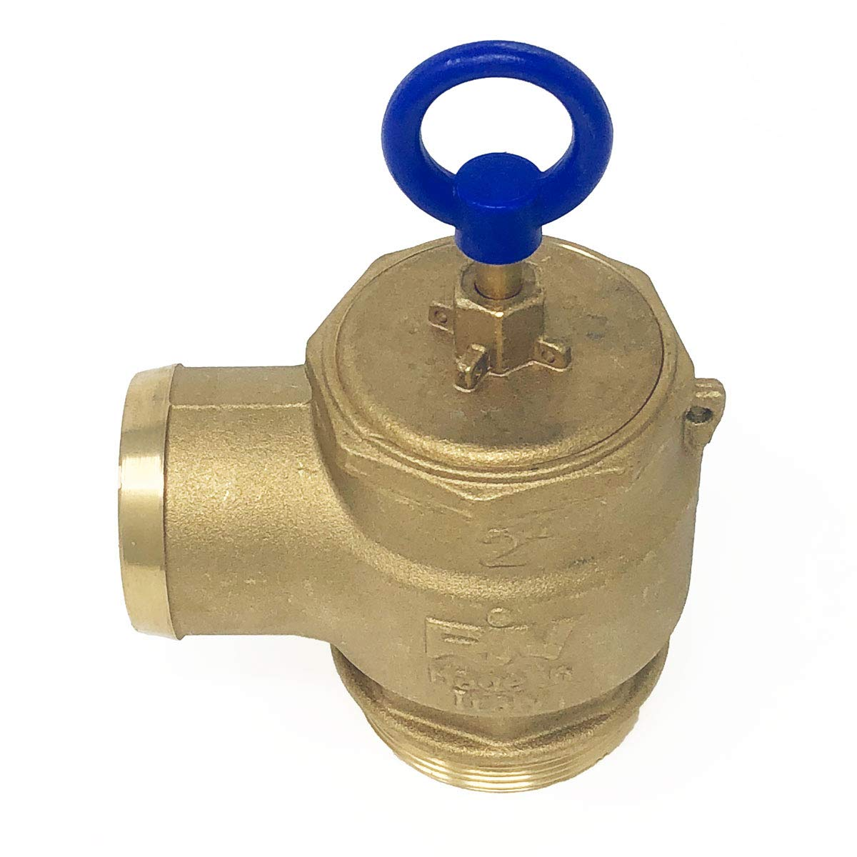 Brass Pressure Relief Valve 300 CFM 2 Diameter 1050-0000 RIV Fully Adjustable Non-Code