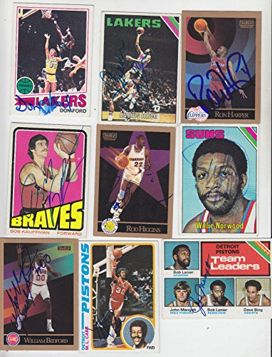 (1977-78 TOPPS SIGNED ROOKIE CARD DON FORD LAKERS CAVALIERS SANTA BARBARA # 43)