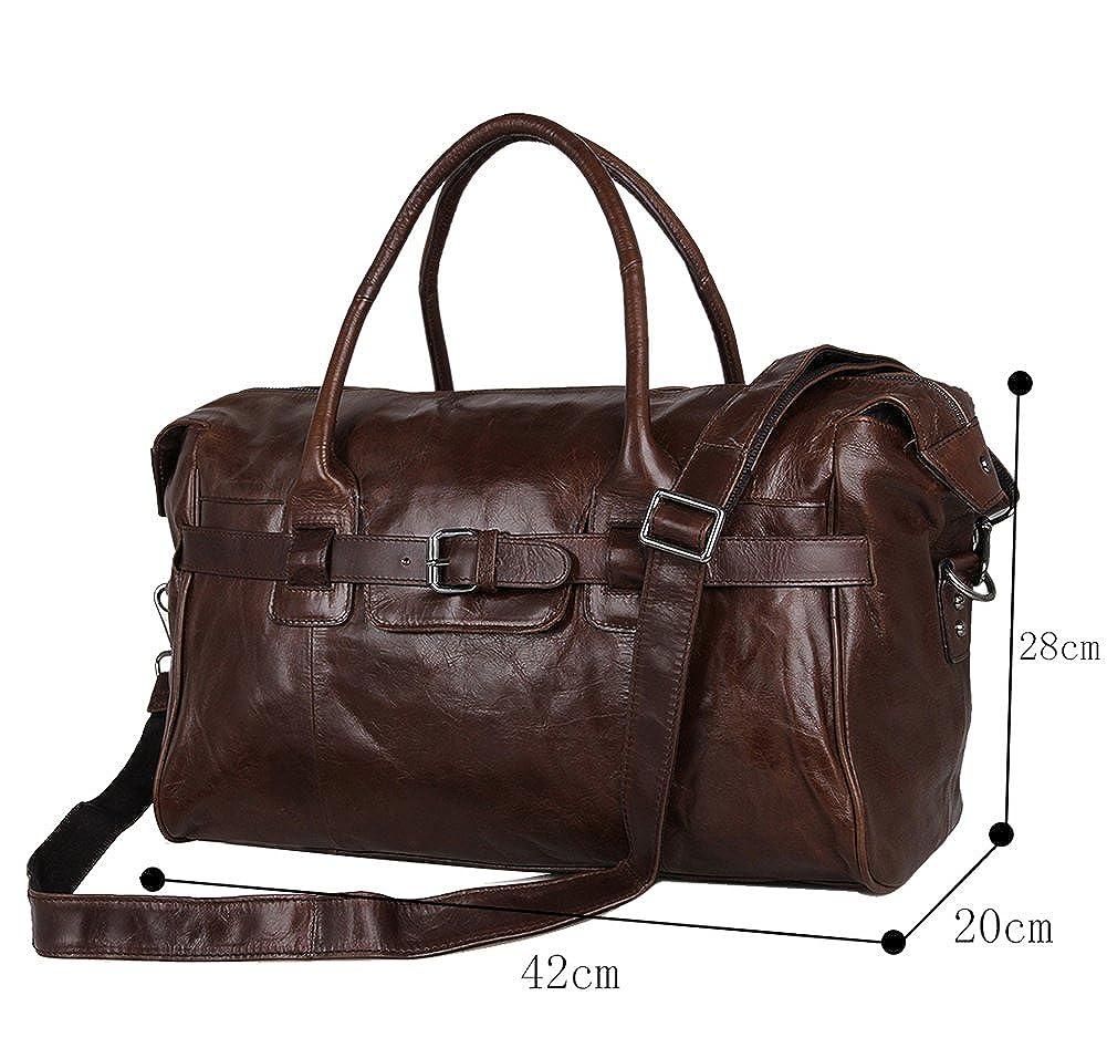 Genda 2Archer Top Leather Overnight Travel Duffle Weekend Bag Handbag