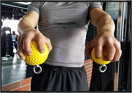 lahomia 7.2cm Pull Up Ball Cannonball Grip Strength Muscle ...