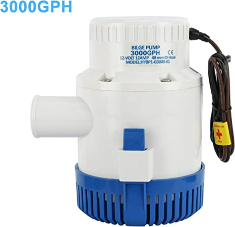 Durable 3700 GPH 12v Boat Marine Plumbing Electric Bilge Pumps US Fast Shipping