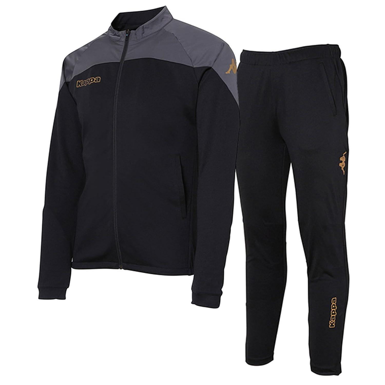 カッパ(Kappa) トレーニングジャケット&トレーニングパンツ 上下セット(ブラック/ブラック) KF752KT11-BK-KF752KB11-BK B07DXDRM2Jブラック/ブラック 日本 S-(日本サイズS相当)