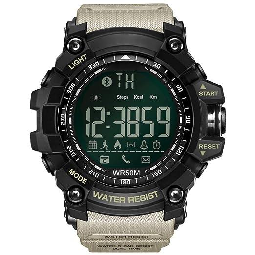 Reloj Inteligente con Bluetooth, Reloj Deportivo, recordatorios, Deportes al Aire Libre, Reloj