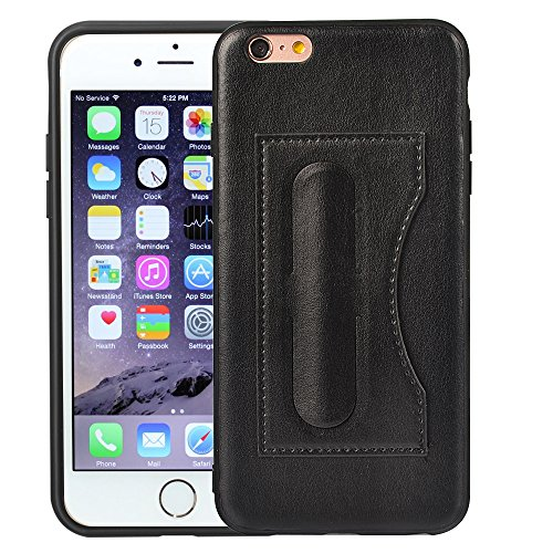 iPhone 6 Plus/6S Plus Wallet Case, MagicSky Ultra Slim Premium PU Leather Shock-Absorbing Protective Bumper Cover With Foldable Kickstand and Credit Card Slot for Apple iPhone 6 Plus/6S Plus - Black