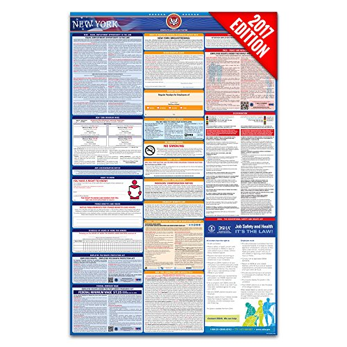2017 New York Labor Law Poster – State & Federal Compliant – Laminated