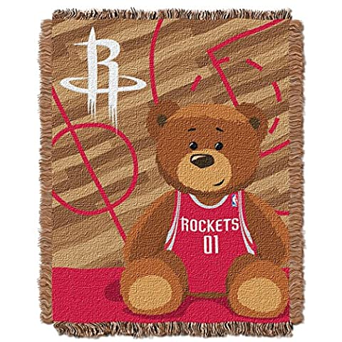NBA Houston Rockets Half Court Woven Jacquard Baby Throw, 36