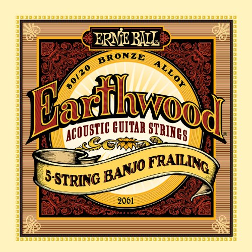 Ernie Ball Earthwood 5-string Banjo 80/20 Bronze Loop End Frailing