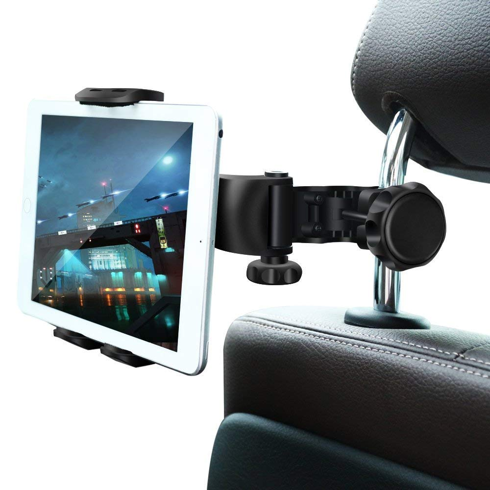 Car Head Rest Tablet Holder, gheart Car Head Rest Tablet Mount for iPad Pro/Air/Mini, Kindle Fire HD, Nintendo Switch, iPhone & Other Smartphones ...