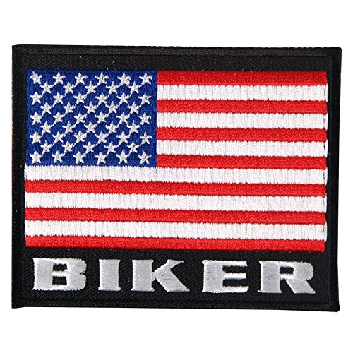 Patch stemma bandiera USA Biker.