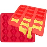 Ticent Dog Paws & Bones Cake Pan, Large Silicone Dog Treats Baking Molds for Kids, Pets, Dog-lovers Cookie Cutter, 100% Food Grade, 12 by 10 inch